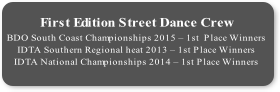 First Edition Street Dance Crew  